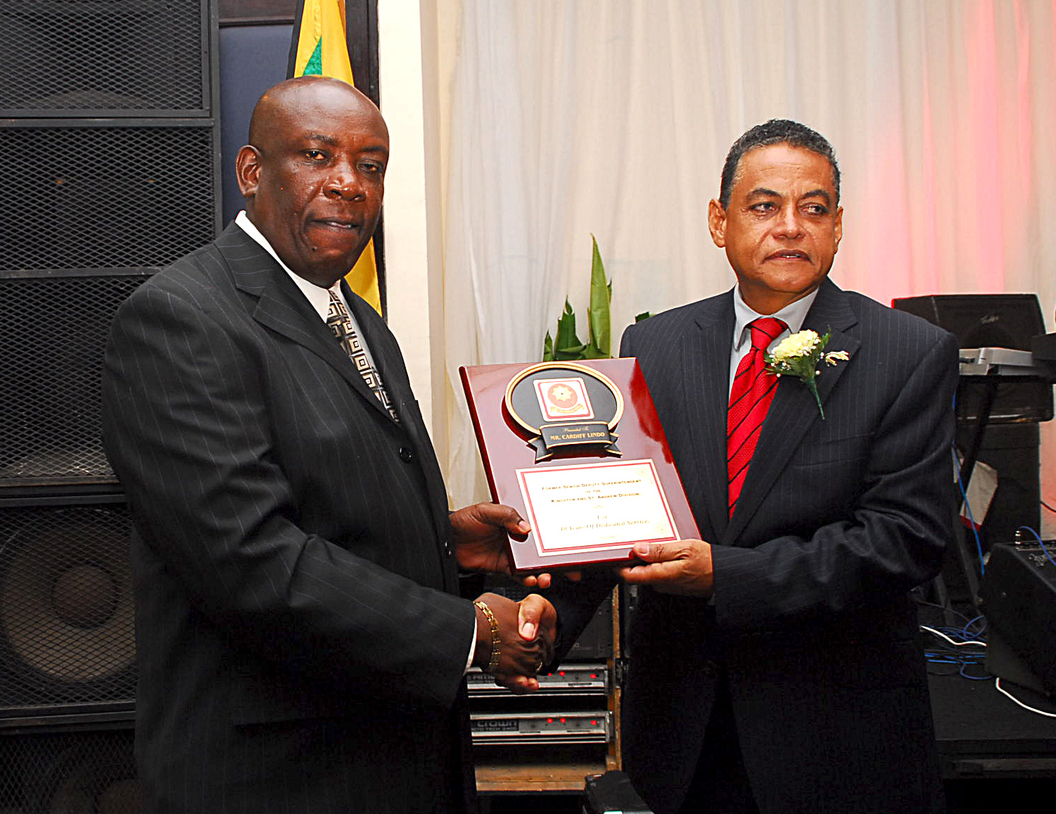 Award being distributed at the Worldnet Firefighter of the year 2015 award ceremony