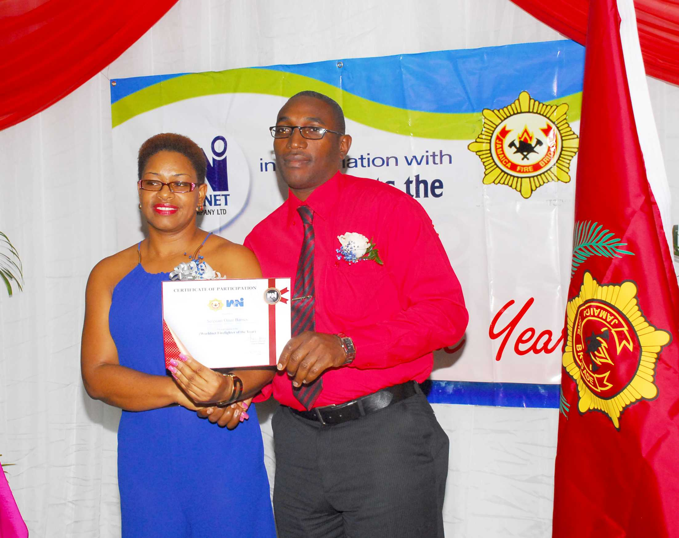 Contestant being awarded at the seminar