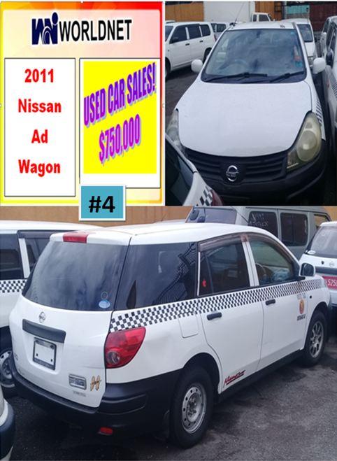 2011 Nissan Ad Wagon -White #4